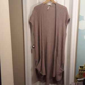 Free People Long Knit Cardigan sz.M/L